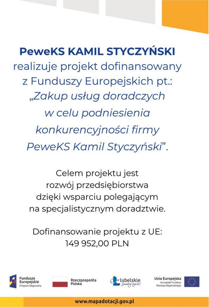 Zakup usług doradczych w celu podniesienia konkurencyjności firmy PeweKS Kamil Styczyński