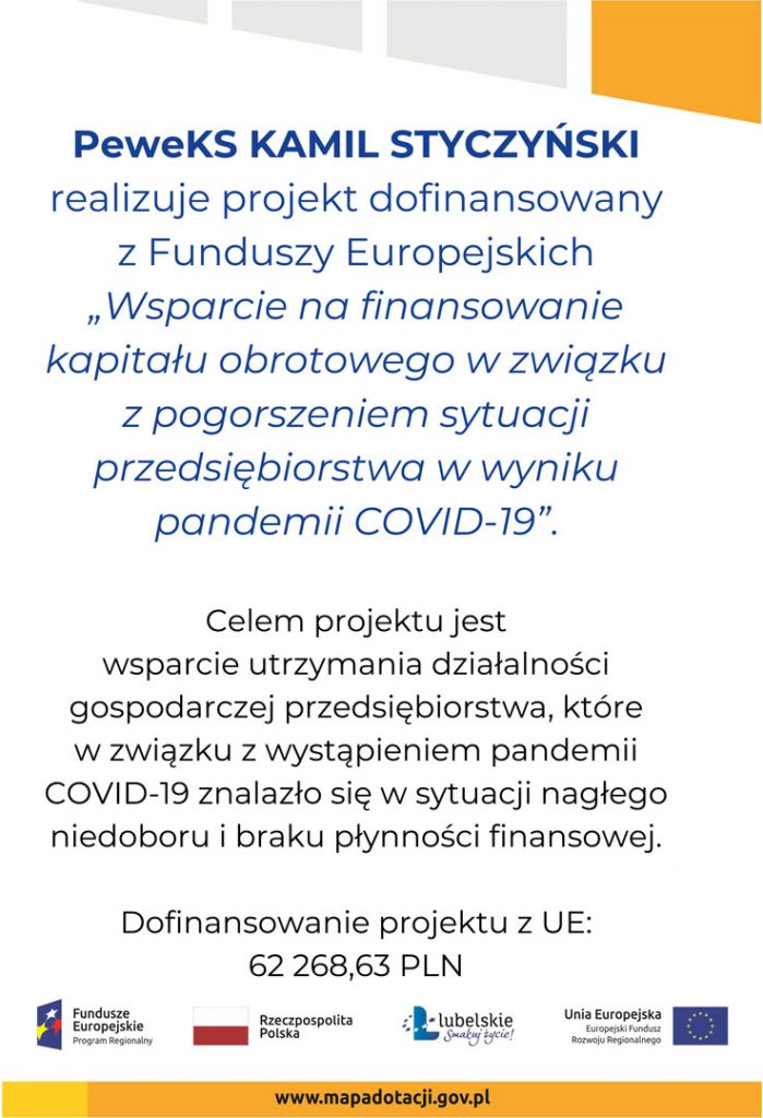 Wsparcie na finansowanie kapitału obrotowego w związku z pogorszeniem sytuacji przedsiębiorstwa w wyniku pandemii COVID-19